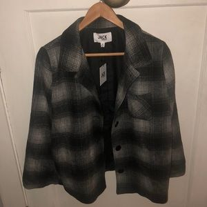 NWT Jack by BB Dakota Plaid Cape